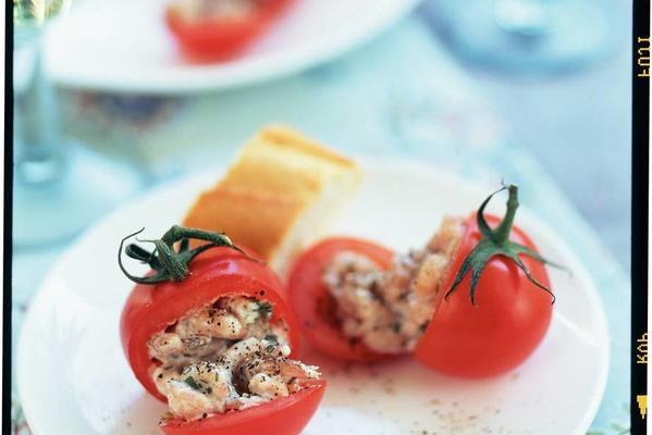 tasty tom-tomatoes with shrimps and tarragon