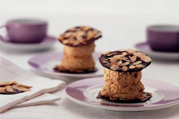 espresso mousse with chocolate wafers