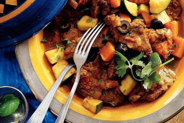 Moroccan beef with pumpkin