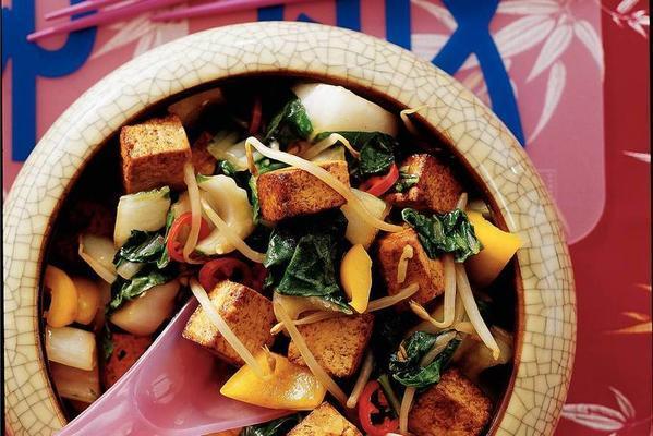 thai bean curd with vegetables