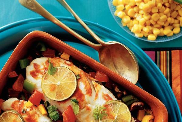mexican fish dish with salsa