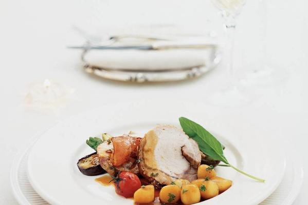 pork fillet with sage and potatoes