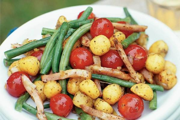 stir-fried green beans with cassorrib