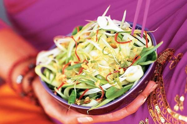 cucumber salad with peanut limo dressing