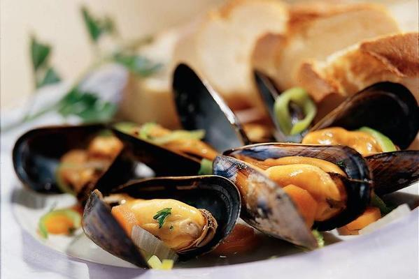 basic recipe for cooked mussels