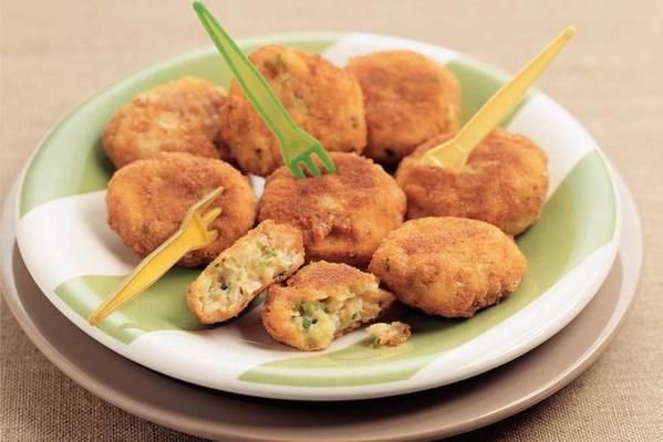 potato-nut cookies with chives