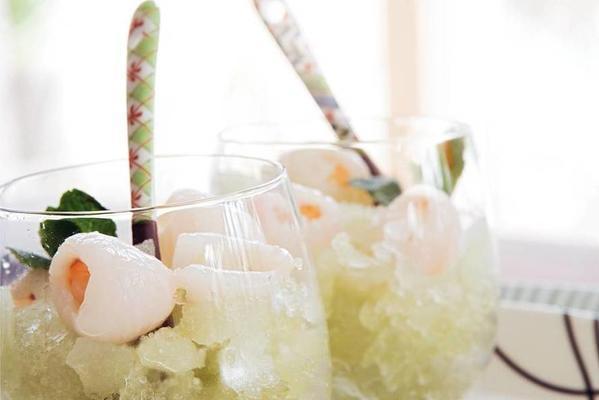 granita of green tea with lychee