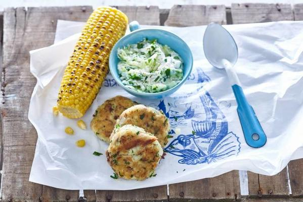 Dutch mackerel biscuits with corn cobs