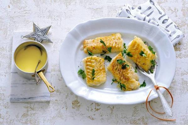 cod fillet with beurré blanc