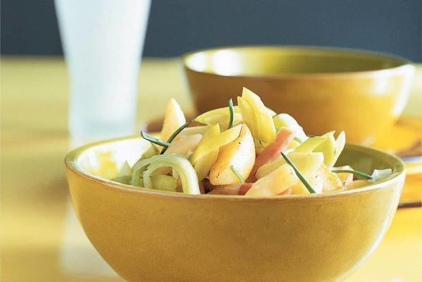 leek dish with ham and cheese