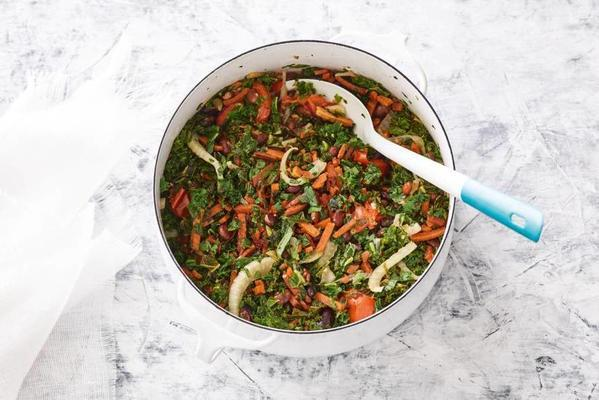Dutch bean stew with kale