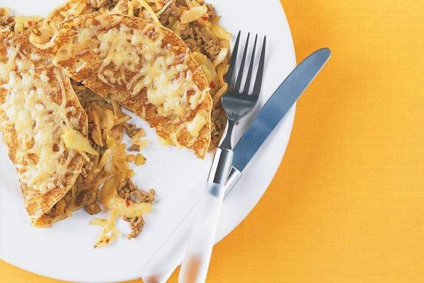 pancakes with white cabbage