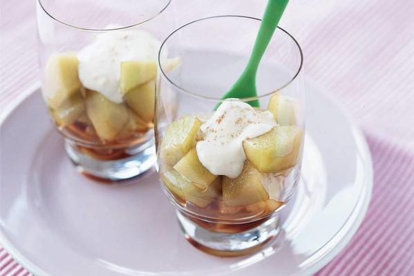 melon with sherry and ginger cream