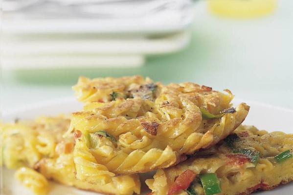 frittata with fusilli and italian vegetables