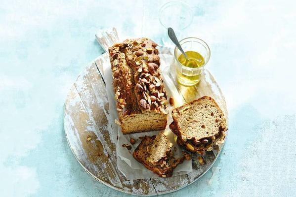 organic almond cake with banana and lemon
