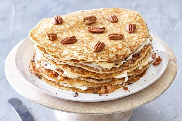 pancake pie with pancetta