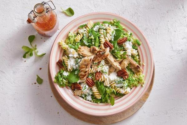 fresh pasta salad with mackerel