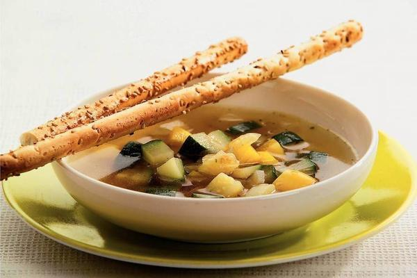 vegetable soup with sesame stalks