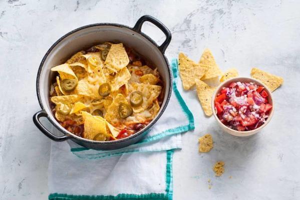 one-pan nacho dish