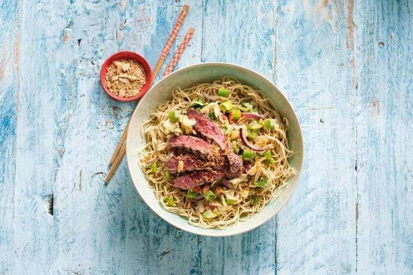 thai wok dish with steak