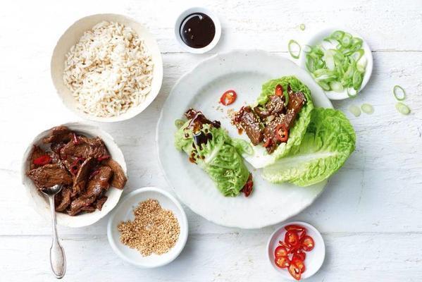 korean bulgogi with sweet soy sauce