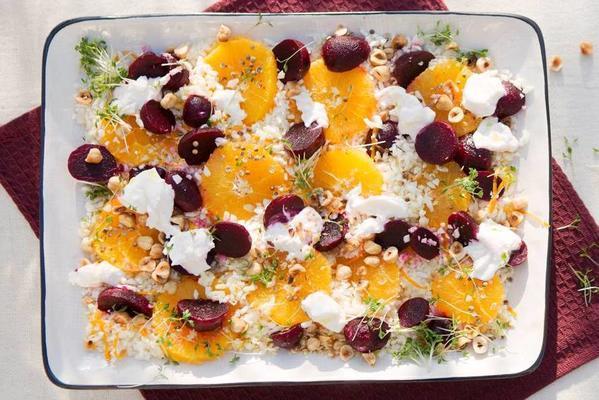 freshly sweet orange-beet salad