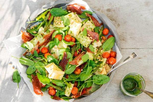 pasta salad with puffed tomatoes