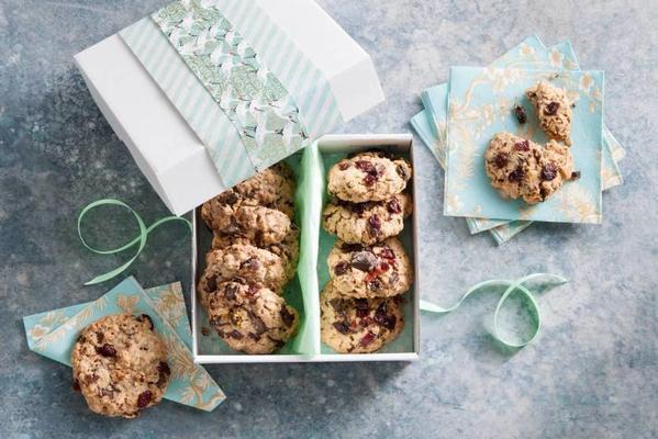 gluten-free muesli chocolate chip cookie