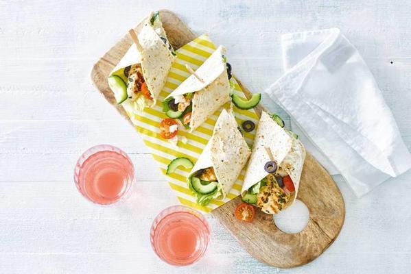 Greek tortillas with chicken