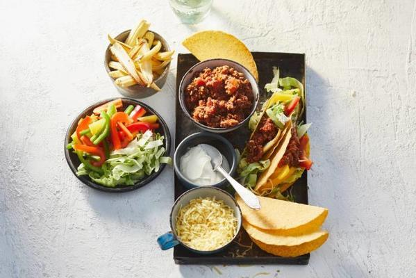 tacos with vegadehakt and babymais
