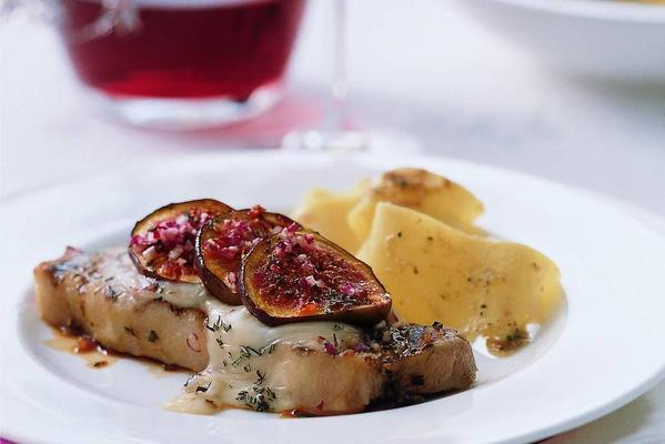 gratinated veal entrecotes with fresh figs