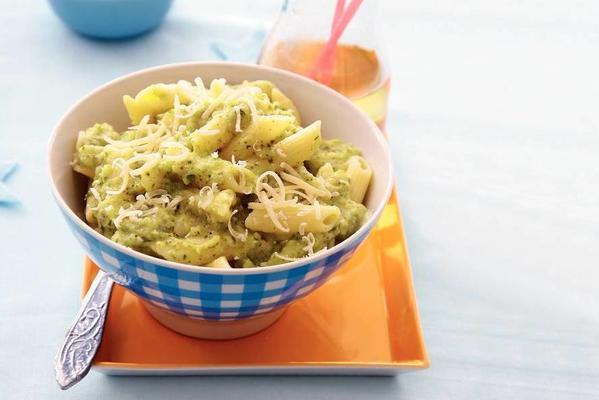 penne with zucchini sauce and Italian herbs