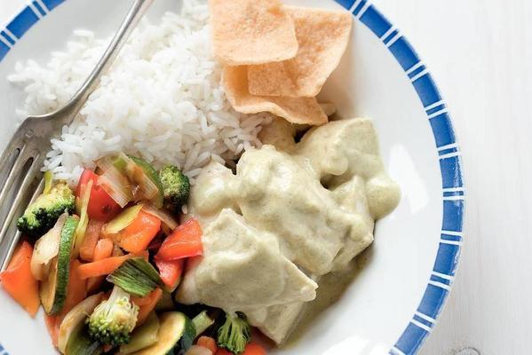 cream chicken with thai coconut sauce