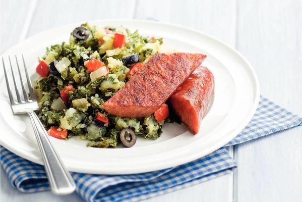spicy Mediterranean kale stew