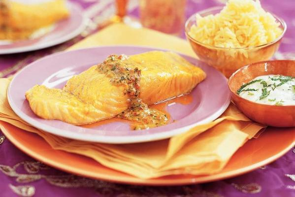 roasted salmon fillet with mustard
