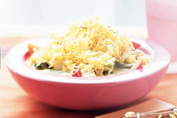 basmati rice with saffron and honey