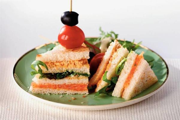 luxury salmon sandwiches