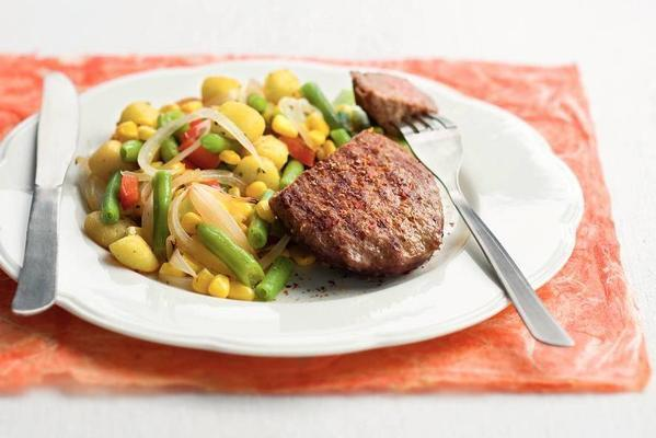 spicy steak du boeuf with greengrocer