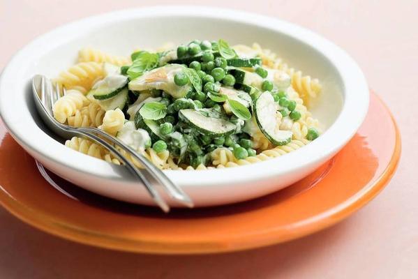 pasta with zucchini cream sauce