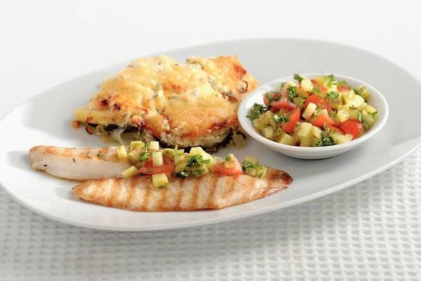 grilled tilapia fillet with tomato salsa
