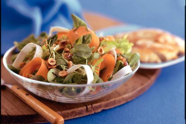winter salad with celeriac