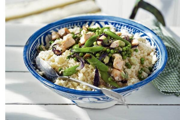 tagine with salmon and couscous