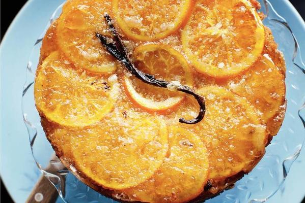 orange-almond pie