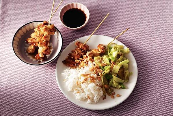 satay with soy sauce