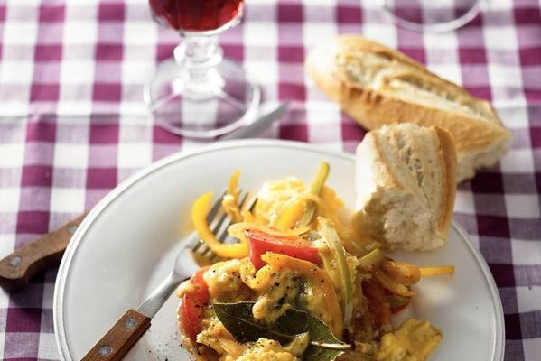 paprika with scrambled eggs