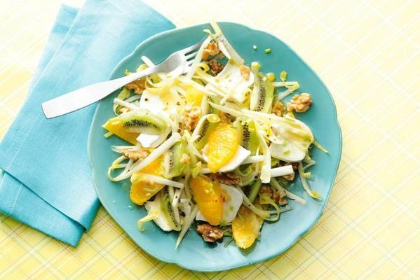 chicory salad with goat's cheese and walnuts