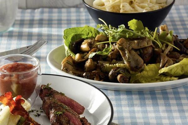roasted mushrooms with balsamic dressing