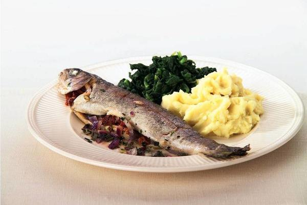 Italian seasoned trout from the oven
