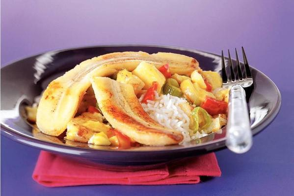 cod-curry sauce with banana
