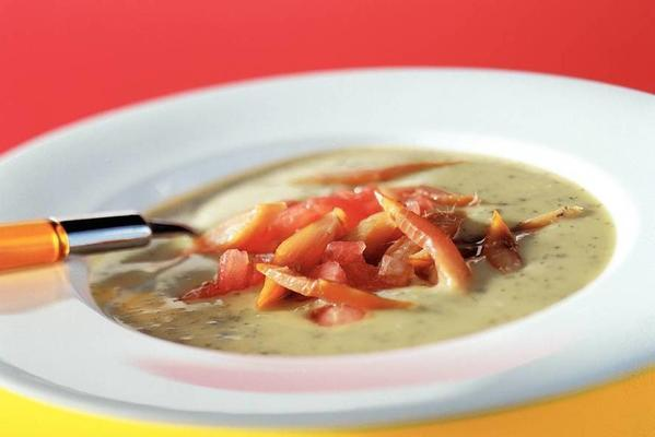 chervil soup with smoked herring